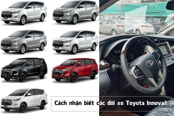 Nhận biết các đời xe Toyota Innova #J, G, E, V đầy đủ nhất