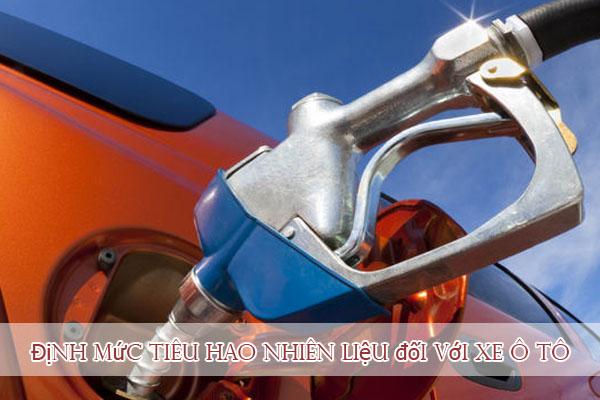 Hướng dẫn về định mức tiêu hao nhiên liệu đối với xe ô tô