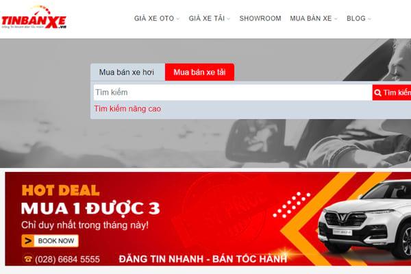 Website đăng tin những chiếc xe chất lượng với giá tốt nhất