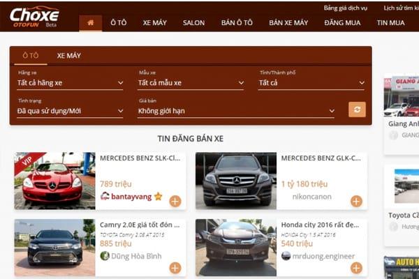 diễn đàn tuyệt vời để trao đổi mua bán xe hơi với lượng truy cập cao