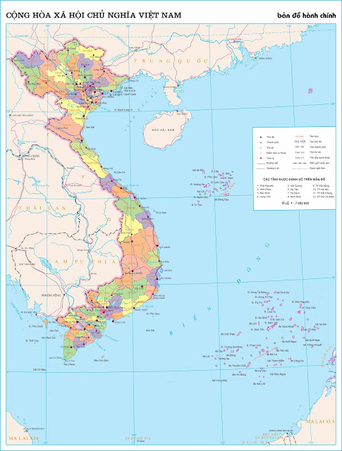 Bản đồ hành chính nước Việt Nam