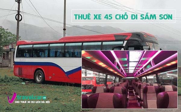 Công ty chuyên cho thuê xe 45 chỗ đi Sầm Sơn giá rẻ tại Hà Nội