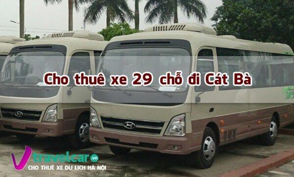 Bảng giá và dịch vụ thuê xe 29 chỗ đi Cát Bà giá rẻ tại Hà Nội