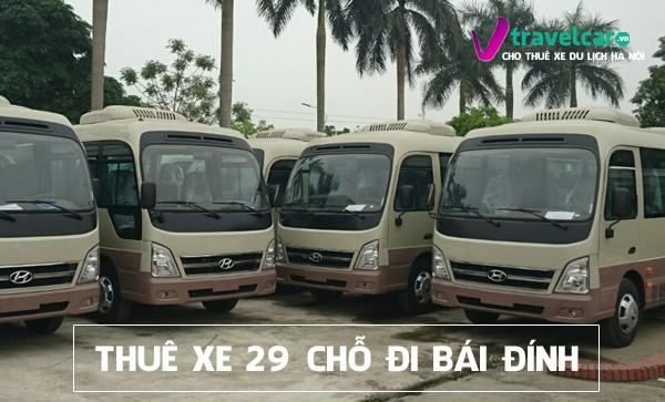 Bảng giá và dịch vụ thuê xe 29 chỗ đi Bái Đính giá rẻ tại Hà Nội