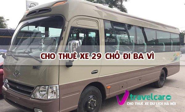 Công ty cho thuê xe 29 chỗ đi Ba Vì giá rẻ tại Hà Nội