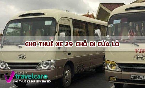 Bảng giá và dịch vụ thuê xe 29 chỗ đi Cửa Lò giá rẻ tại Hà Nội