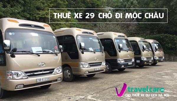 Bảng giá và dịch vụ thuê xe 29 chỗ đi Mộc Châu giá rẻ tại Hà Nội