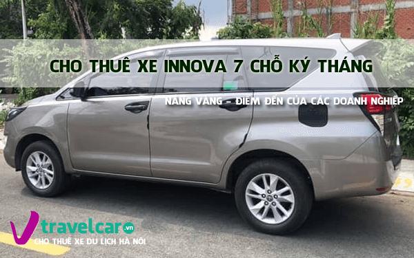 Bảng giá và dịch vụ thuê xe innova 7 chỗ theo tháng giá rẻ hà nội