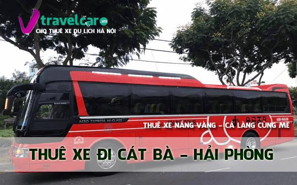 Bảng giá và dịch vụ thuê xe đi Cát Bà 4-45 chỗ giá rẻ tại Hà Nội