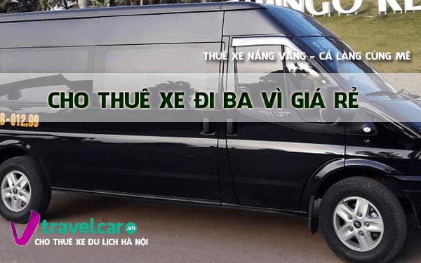 Công ty chuyên cho thuê xe đi Ba vì uy tín, giá rẻ tại Hà Nội.