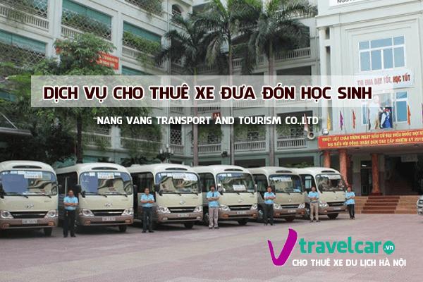 Dịch vụ cho thuê xe đưa đón học sinh tại Hà Nội của công ty Nắng Vàng