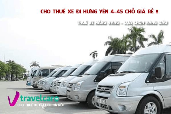 Bảng giá và dịch vụ thuê xe đi Hưng Yên 4-45 chỗ giá rẻ tại hà nội