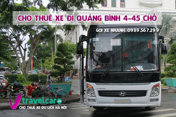 Bảng giá và dịch vụ thuê xe đi Quảng Bình 4-45 chỗ giá rẻ tại hà nội
