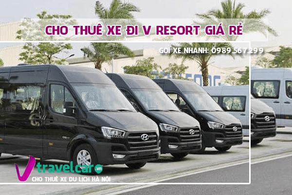 Công ty Nắng Vàng chuyên cho thuê xe du lịch đi V rosort giá rẻ tại hà nội