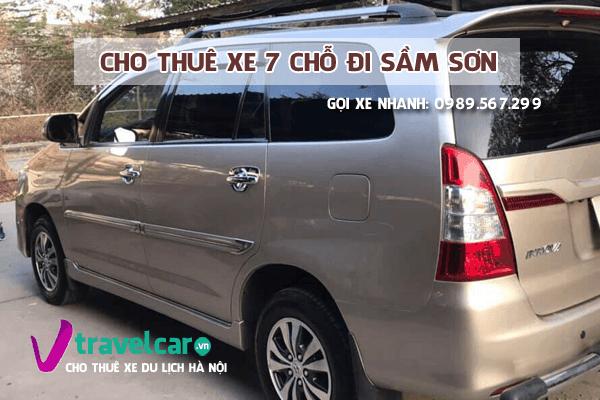 Công ty chuyên cho thuê xe 7 chỗ Hà Nội Sầm Sơn giá tốt nhất