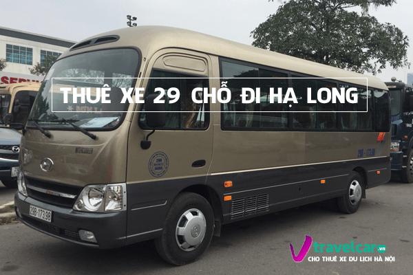 Bảng giá và dịch vụ thuê xe 29 chỗ đi Hạ Long giá rẻ tại Hà Nội