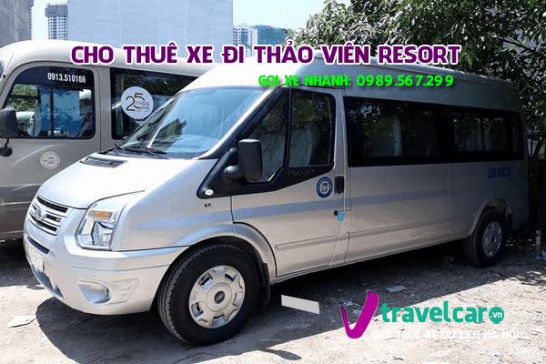 Công ty chuyên cho thuê xe đi chùa Thảo Viên resort giá rẻ tại hà nội.