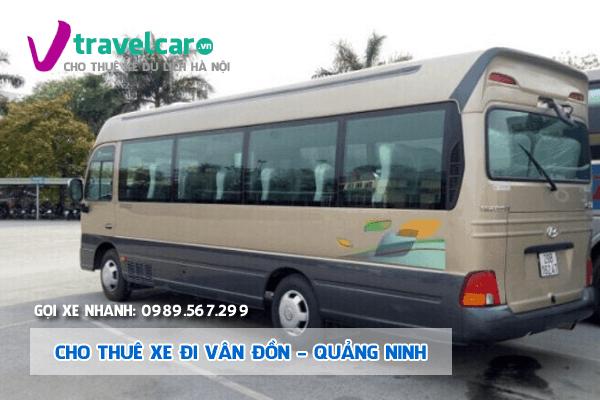 Bảng giá và dịch vụ thuê xe 29 chỗ đi Vân Đồn giá rẻ tại Hà Nội
