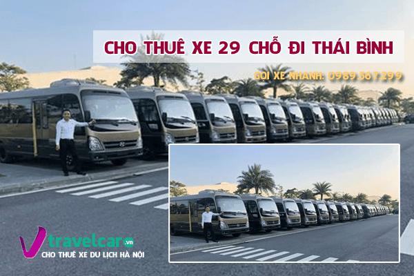 Bảng giá và dịch vụ thuê xe 29 chỗ đi Thái Bình giá rẻ tại hà nội