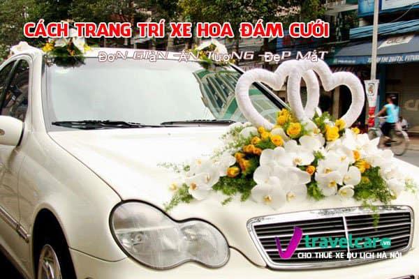 Cách trang trí xe hoa đám cưới