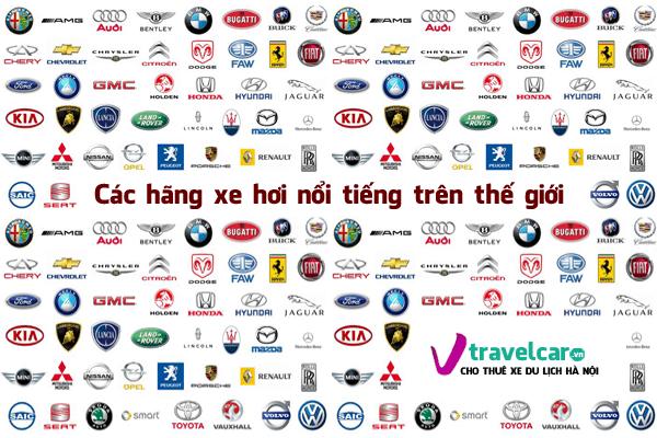 Các hãng xe hơi nổi tiếng trên thế giới