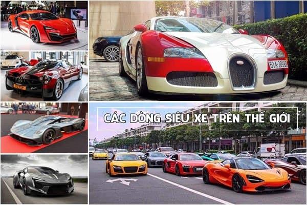 Các dòng siêu xe trên thế giới