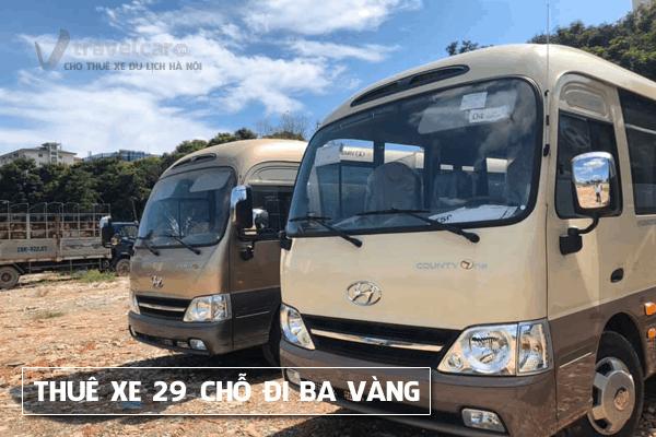 Cho thuê xe du lịch 29 chỗ đi chùa Ba Vàng giá rẻ tại hà nội