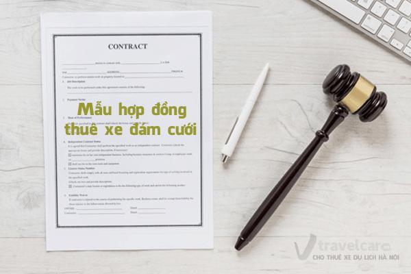 Mẫu hợp đồng thuê xe đám cưới | Travelcar.vn