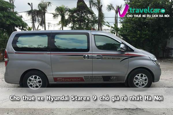 Cho thuê xe Hyundai Starex 9 chỗ giá rẻ, đời mới 2020 Hà Nội
