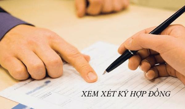 Xem xét kỹ hợp đồng trước khi đưa ra quyết định