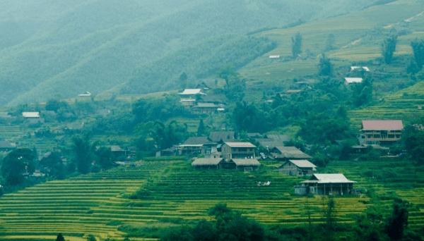 Những ngôi nhà homestay ở bản Tả Van