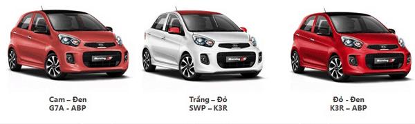 Ba xe 2 tông màu mới đáng chú ý của Kia Morning