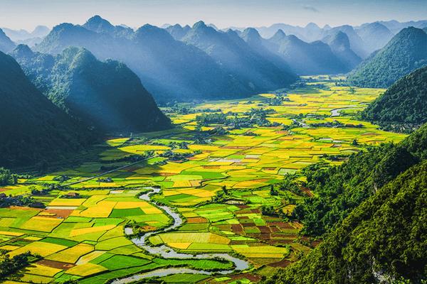 Thung lũng Bắc Sơn - phong cảnh non nước hữu tình. Ảnh st