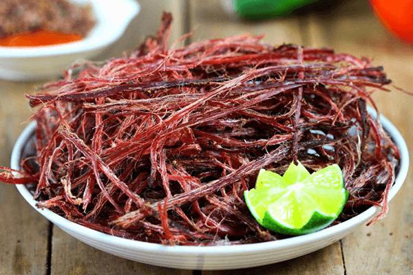Thịt trâu khô gác bếp truyền thống của đồng bào Na Hang