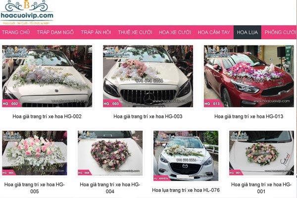 Công ty tnhh việt cường - hoa cưới vip tại hà nội