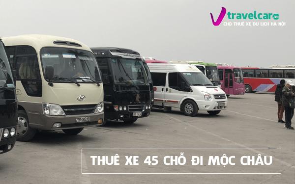 Bảng giá và dịch vụ thuê xe 45 chỗ đi Mộc Châu giá rẻ tại Hà Nội