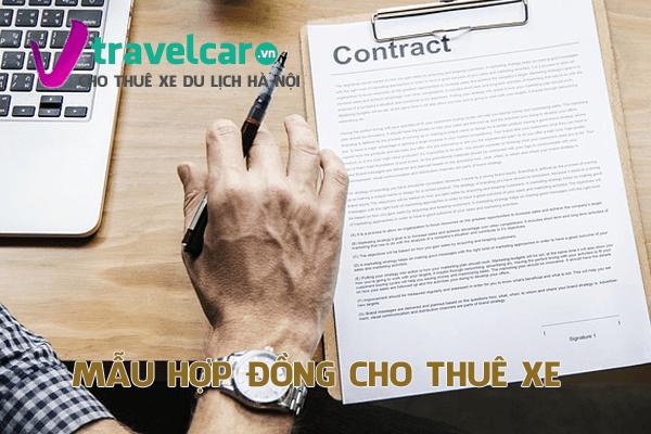 Mẫu hợp đồng cho thuê xe và phiếu thu thanh toán