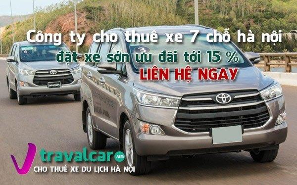 Bảng giá và dịch vụ cho thuê xe 7 chỗ giá rẻ - Uy Tín tại Hà Nội