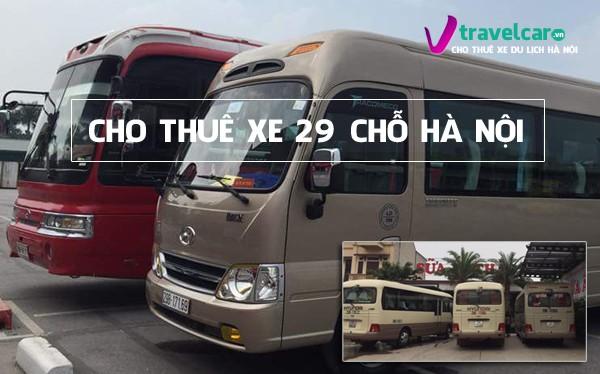 Bảng giá và dịch vụ cho thuê xe 29 chỗ giá rẻ, uy tín tại Hà Nội