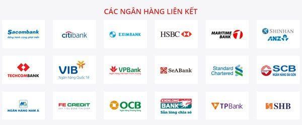 Các ngân hàng liên kết và thanh toán nhanh